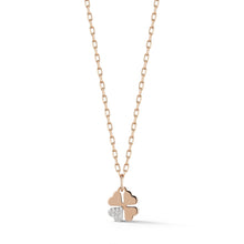 Dora Mini Four Leaf Clover with Single Pave Diamond Petal Charm