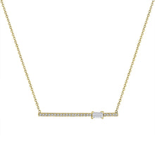 Kate Diamond and Birthstone Bar Necklace
