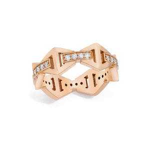 Keynes 18k Signature Stacking Ring