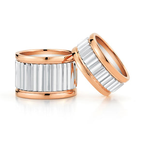 Clive Two Tone 10mm Fluted Band