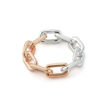Saxon Two Tone Large Chain Link Ring