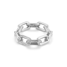 Saxon Double Diamond Large Chain Link Ring