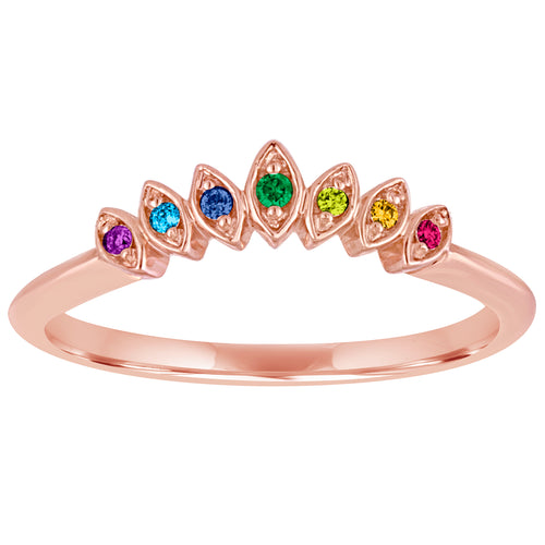 Rainbow Tiara Nesting Ring
