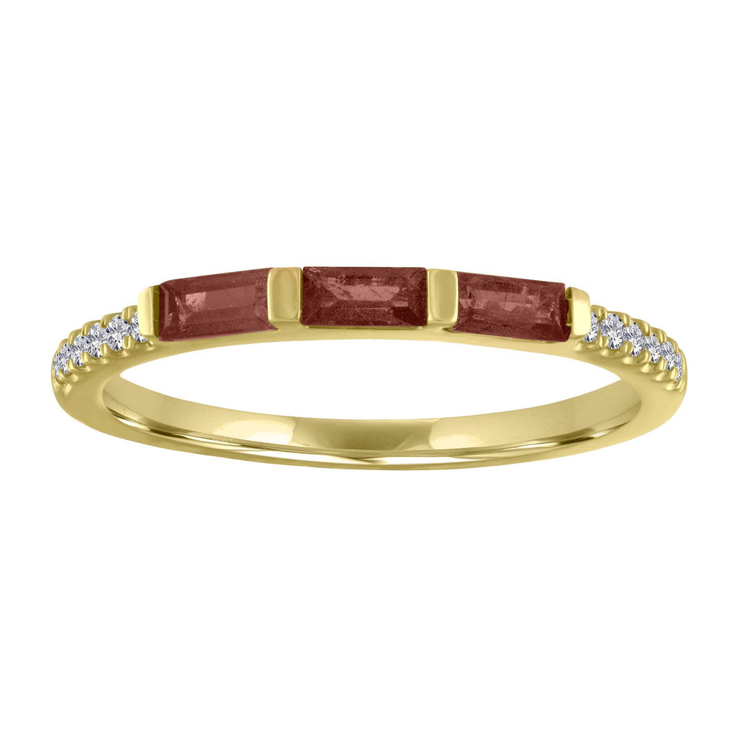 The Julie Birthstone Baguette Ring in GARNET
