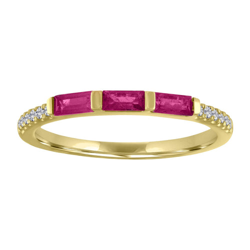 The Julie Birthstone Baguette Ring in RUBY