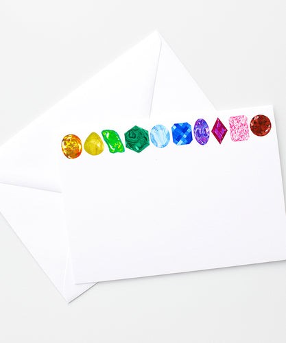 rainbow gemstone stationary