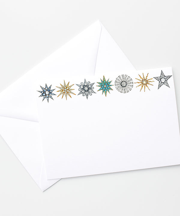 star brooches stationary