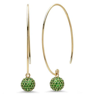 Emerald Disco Ball Earrings