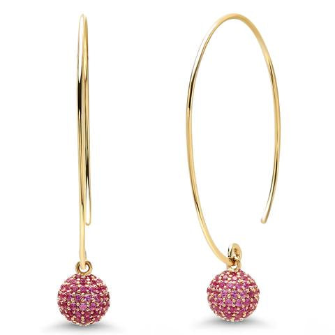 Eriness disco ball earrings