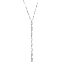 Diamond Baguette Link Necklace