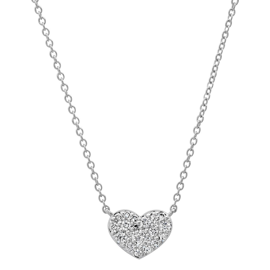 Diamond Smushed Heart Necklace