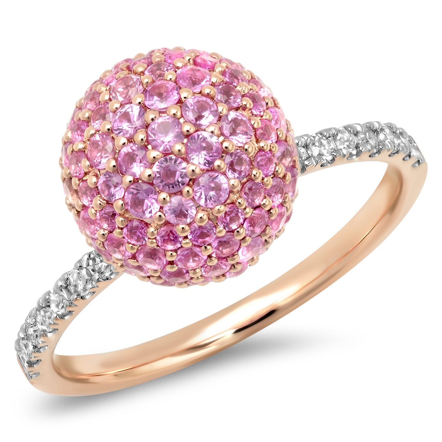 Pink Sapphire and Diamond Disco Ball Ring – Milestones by Ashleigh ...