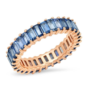 Sapphire Vertical Baguette Eternity Band Ring