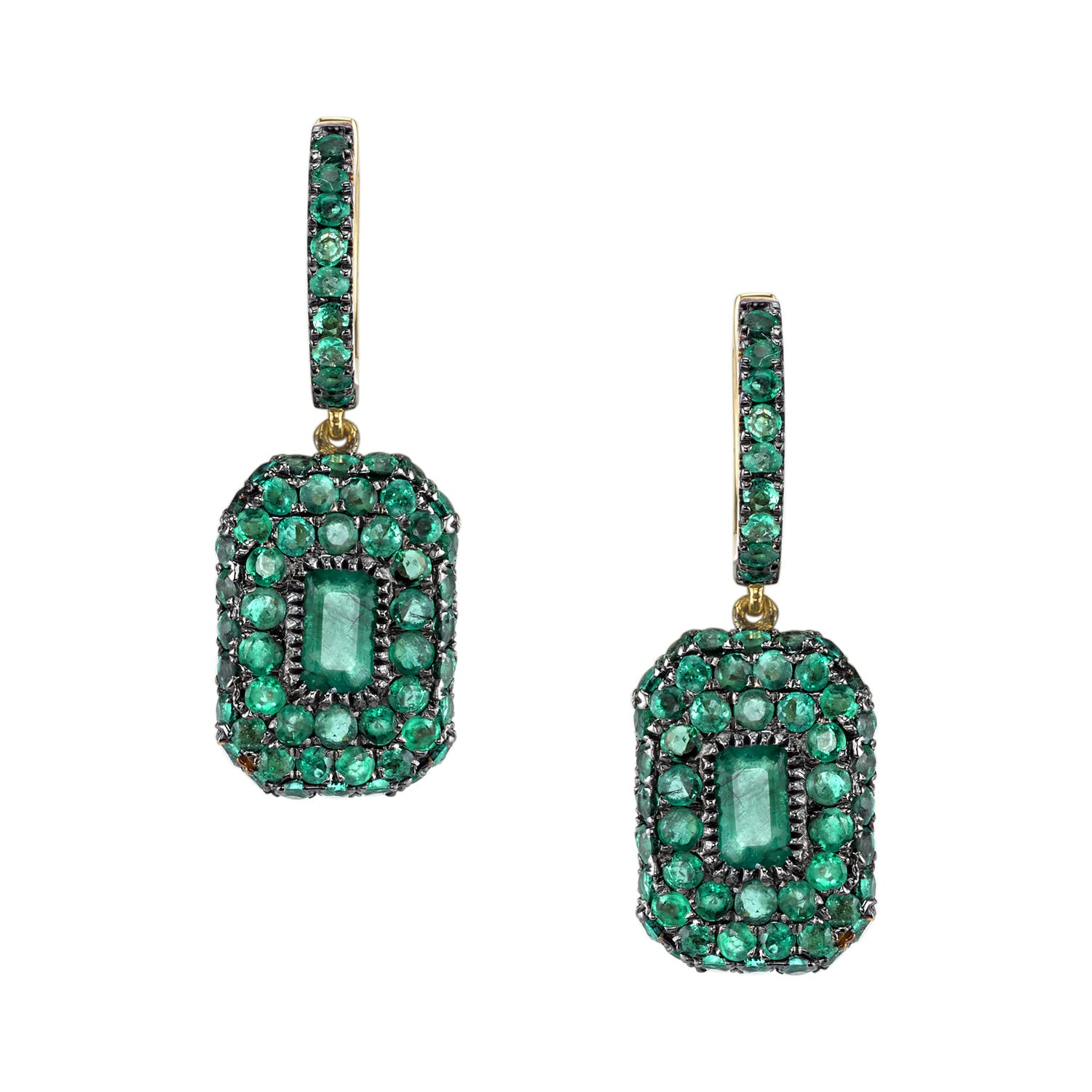 Gemstone Essential Baguette Drop Earrings