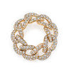 Full Link Jumbo Link Pave Diamond Ring