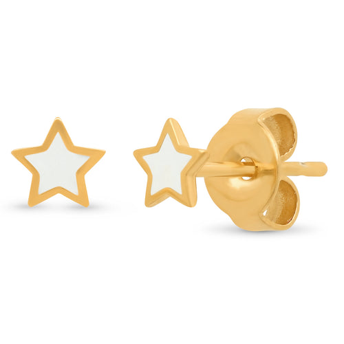 Enamel Star Stud Earrings