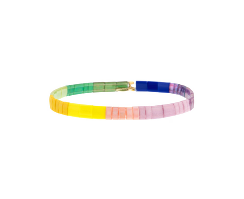 Set of 3 Tilu Summer Stretch Bracelets in Yellow