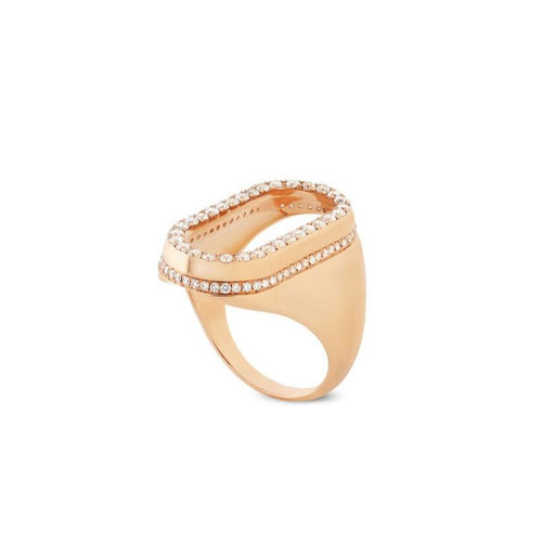 Dupin Oval Diamond Signet Ring