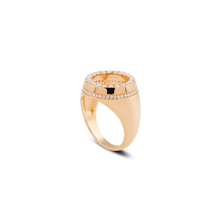 George Open Diamond Signet Ring
