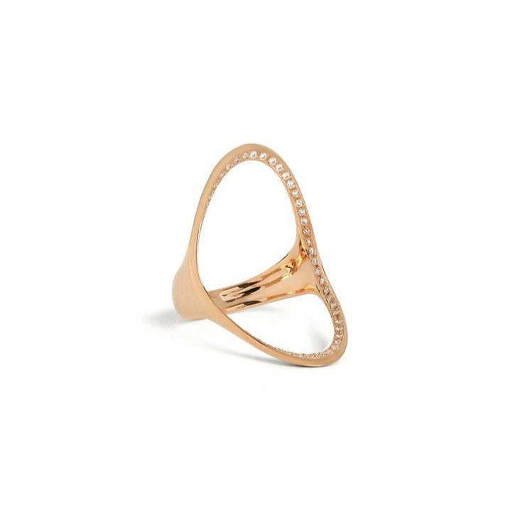 Marple Open Diamond Oval Statement Ring