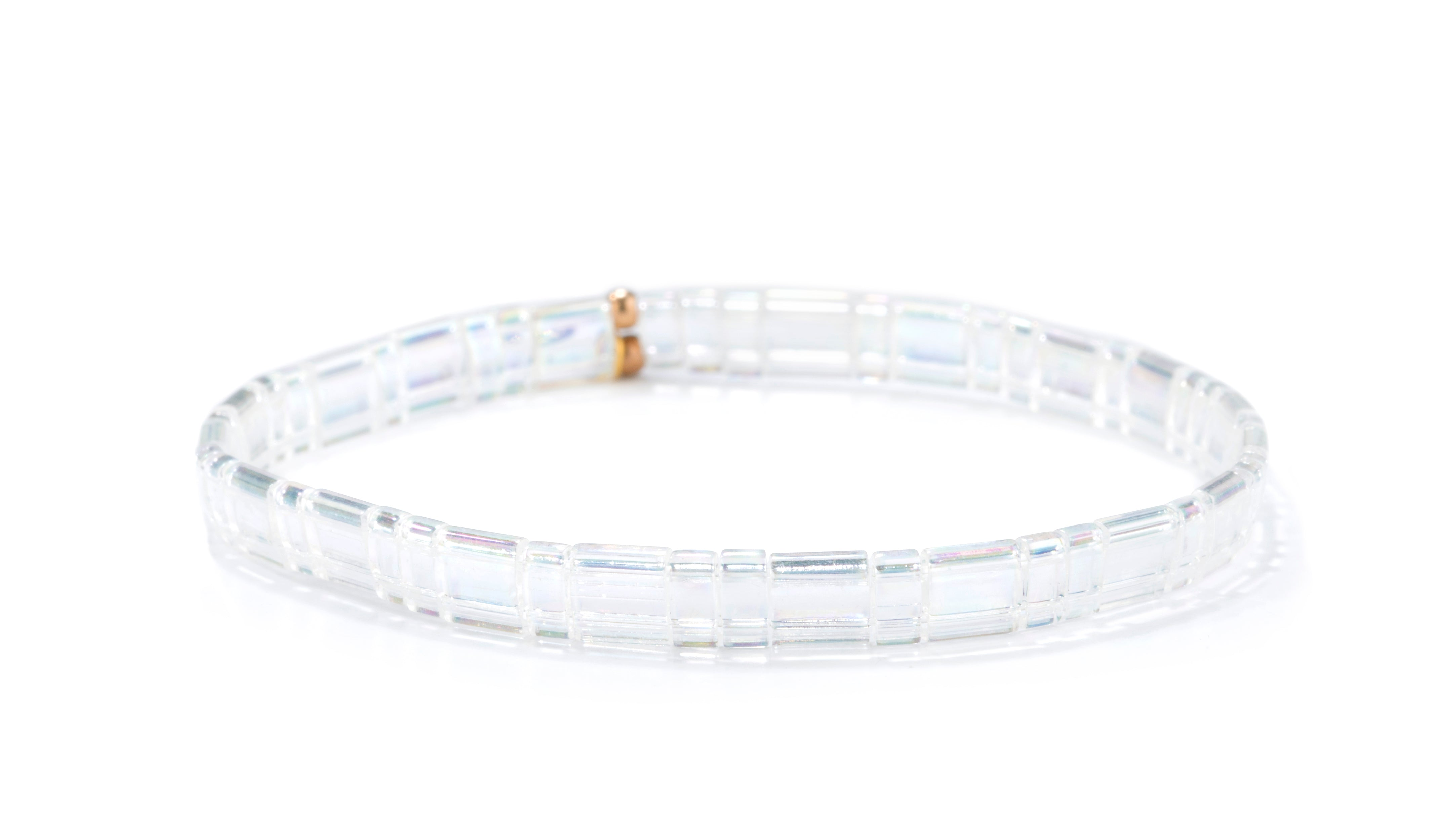 Set of 3 Tilu Summer Stretch Bracelets in Clear