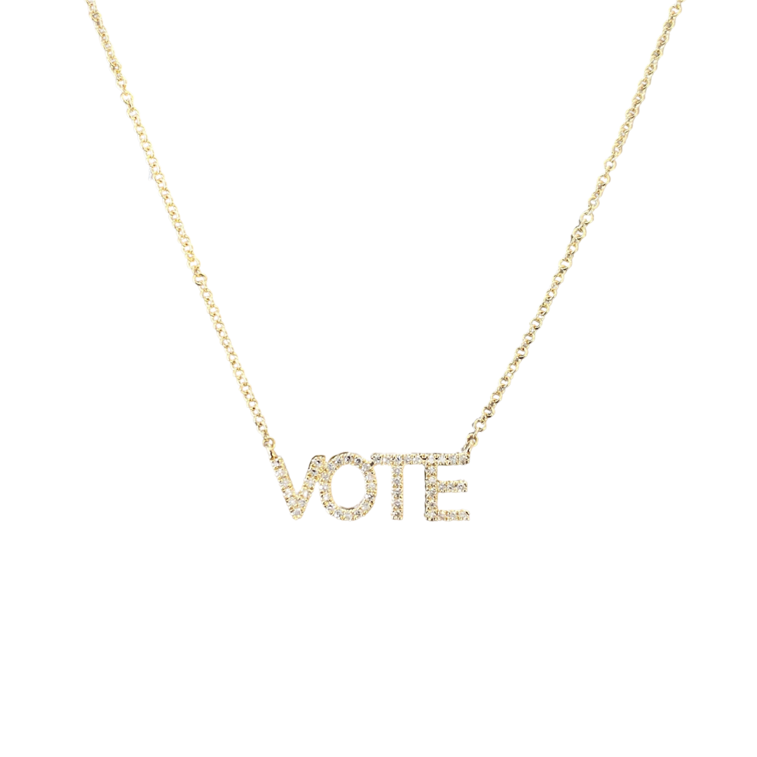 Diamond Vote Necklace