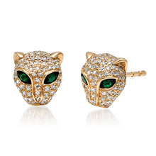 diamond panther studs