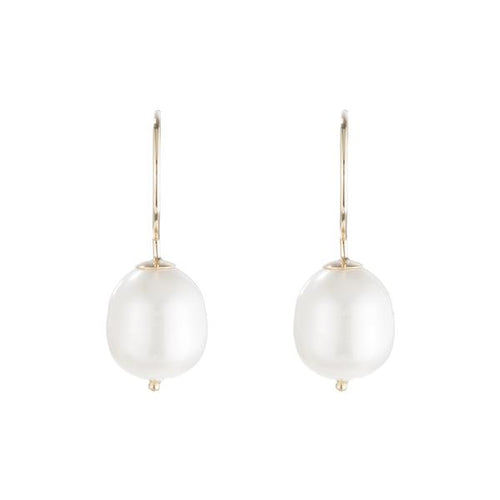 ariel gordon baroque pearl swing hoops earrings