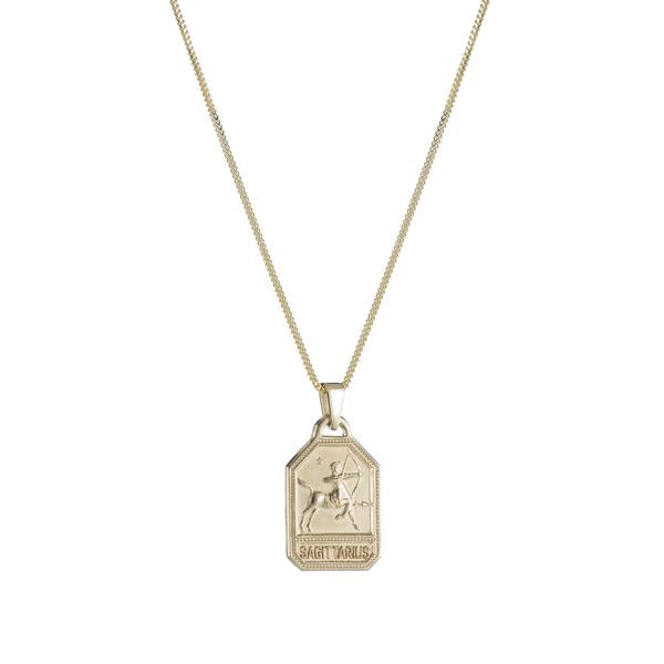 ariel gordon zodiac dog tag necklace