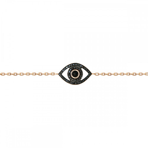 Petite Colored Stone Evil Eye Bracelet
