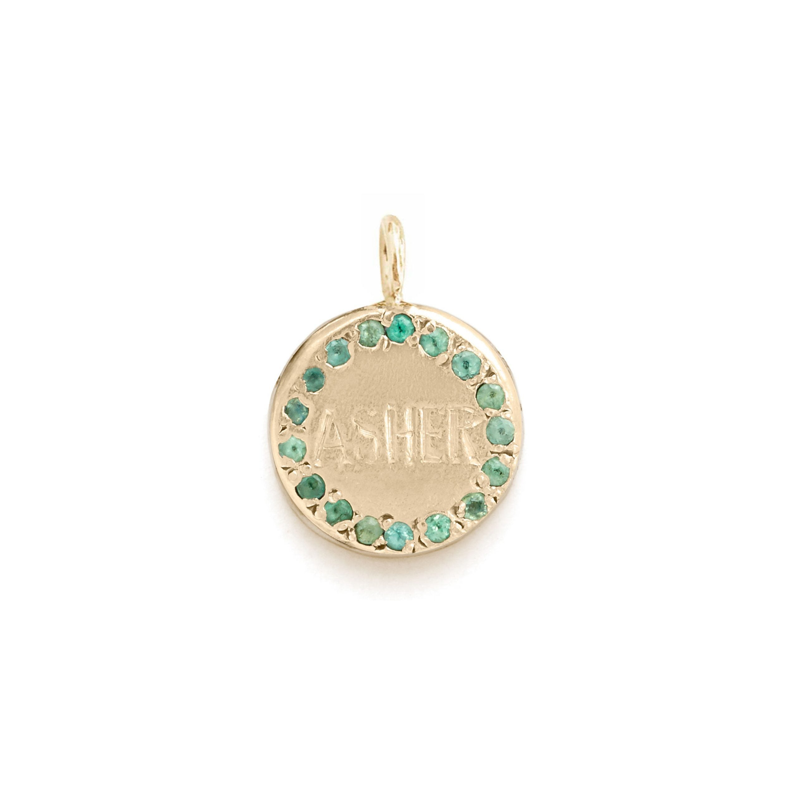 Custom Engravable Circle Charm
