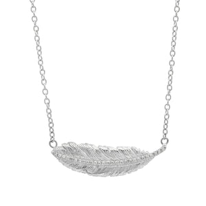 Diamond Feather Necklace