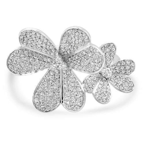 Diamond Flower Blooms Ring