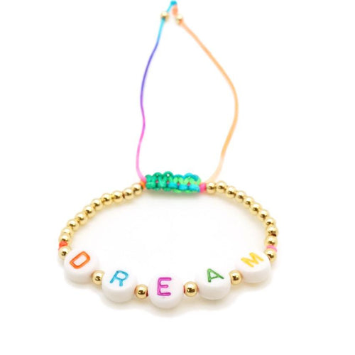 Beaded Throwback Word Bracelet