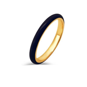 heritage jewelry black enamel stacking ring