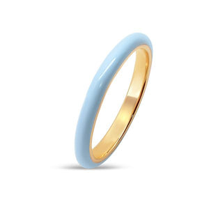 heritage jewelry light blue enamel stacking ring