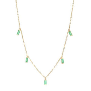 Gemstone Baguette Necklace