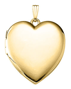Large Heart Locket Necklace