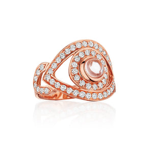 netali nissim rose gold diamond evil eye ring