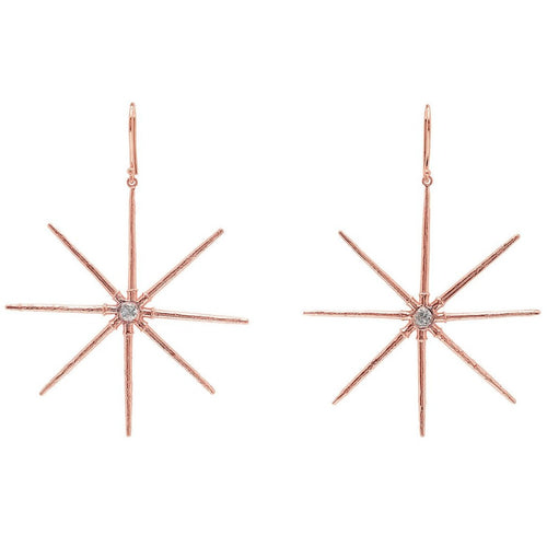 Diamond Sea Star Earrings