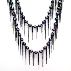 Samira 13 fresh water pearl fringe necklace
