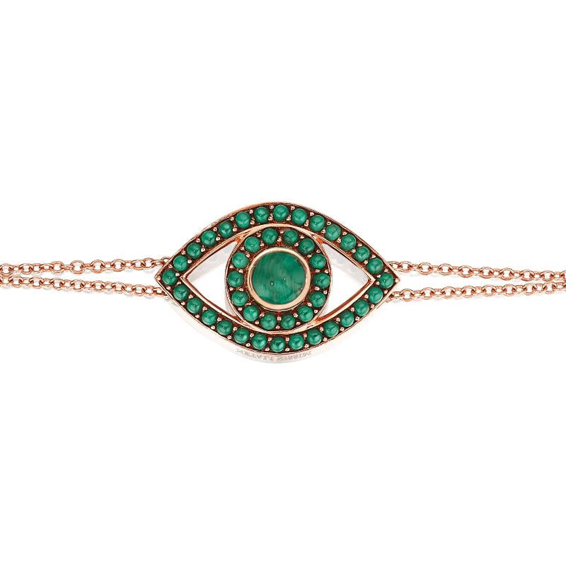 Colored Stone Evil Eye Bracelet
