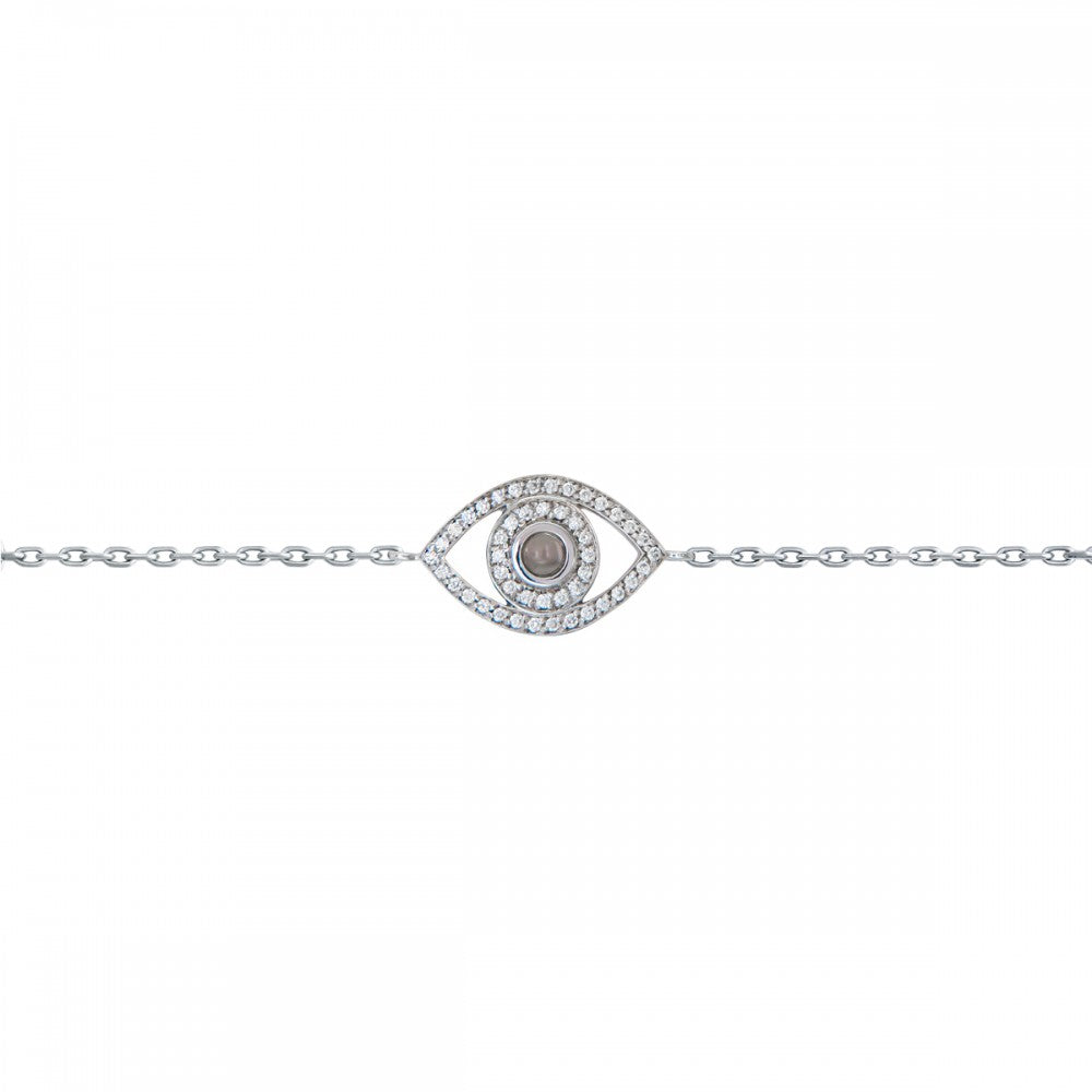Petite Diamond Evil Eye Bracelet