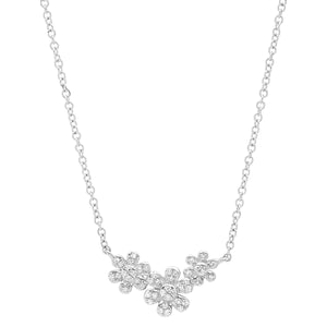 Diamond Flower Cluster Necklace