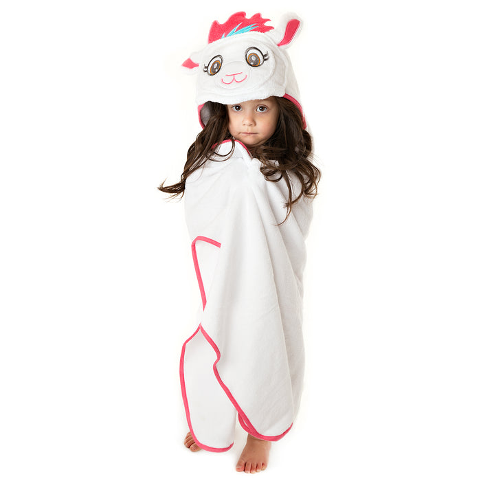 Kids Llama Hooded Towel