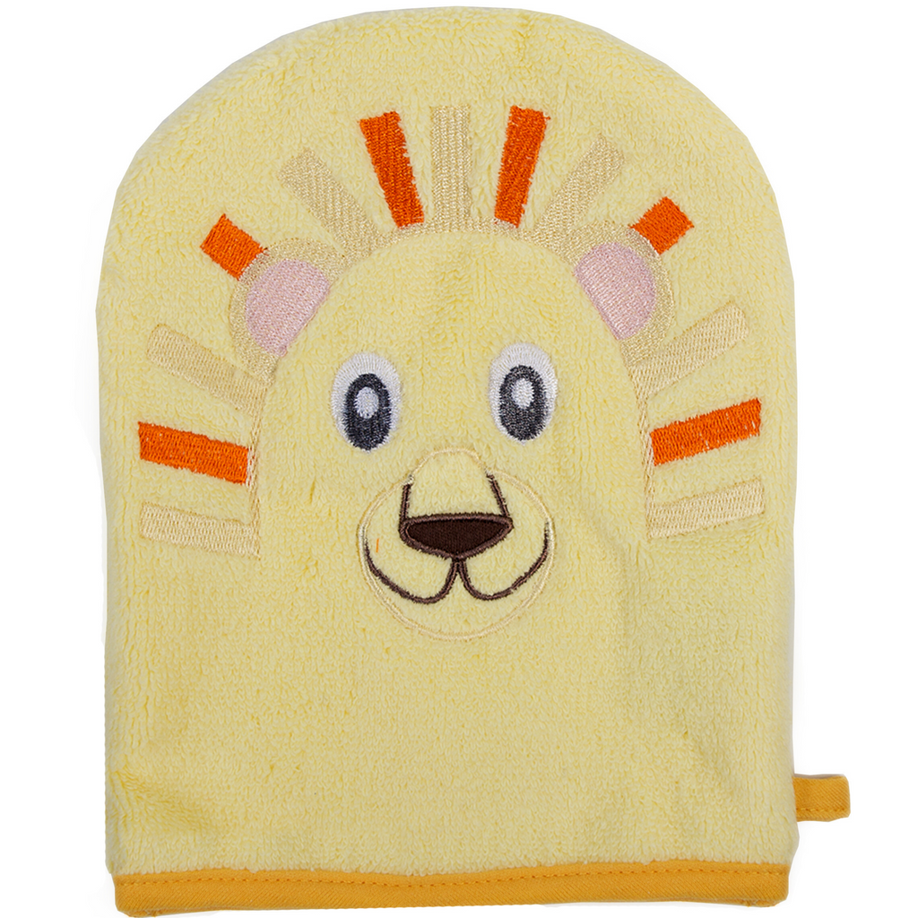 Lion Hooded Baby Towel and Washcloth