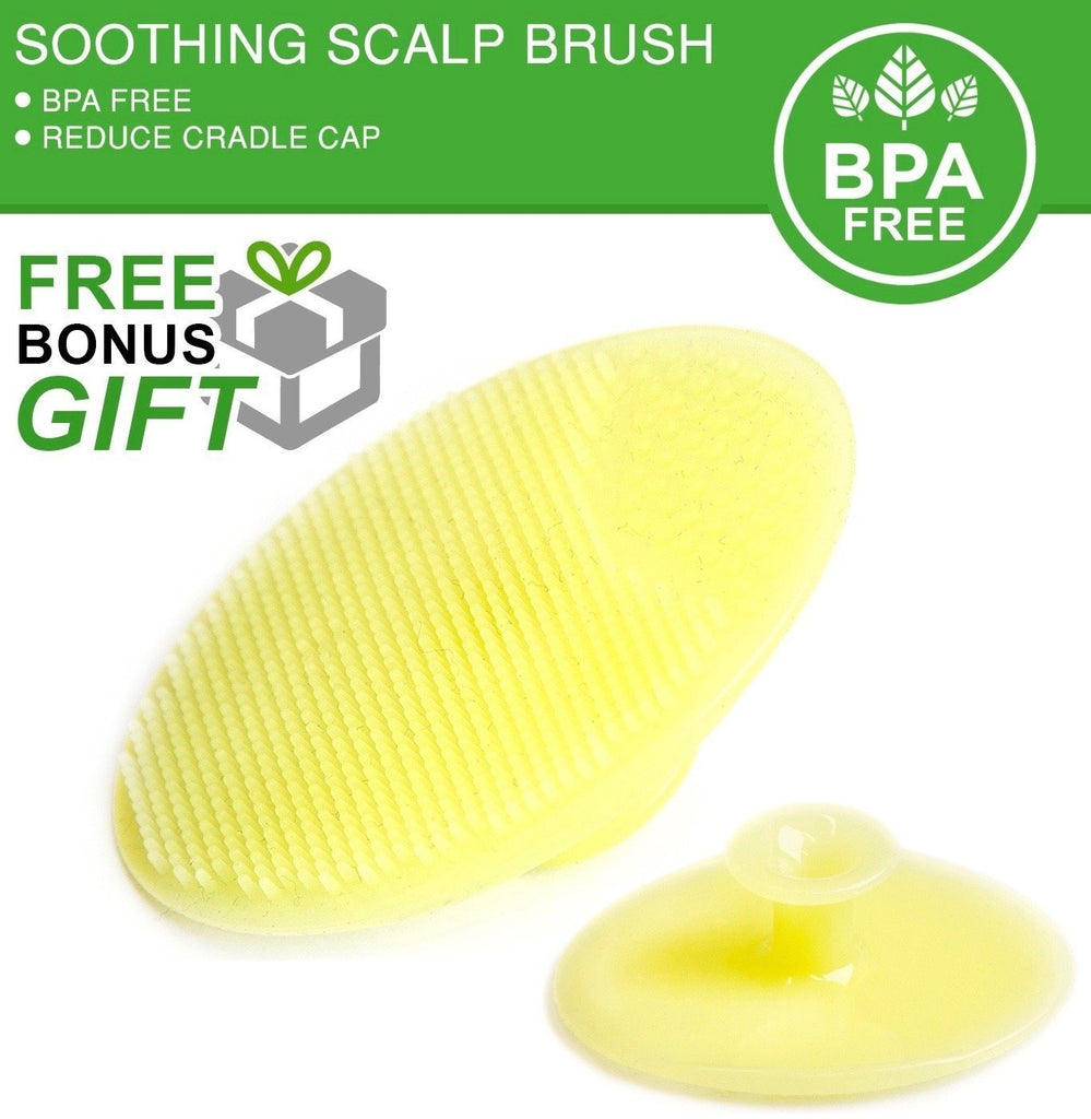 Alt= Close up of the silicone massager baby brush