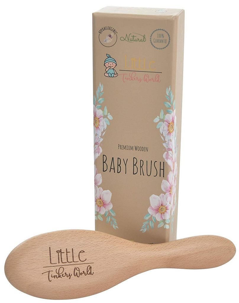 ALT = Front of the packaging with Single Wooden Baby Brush