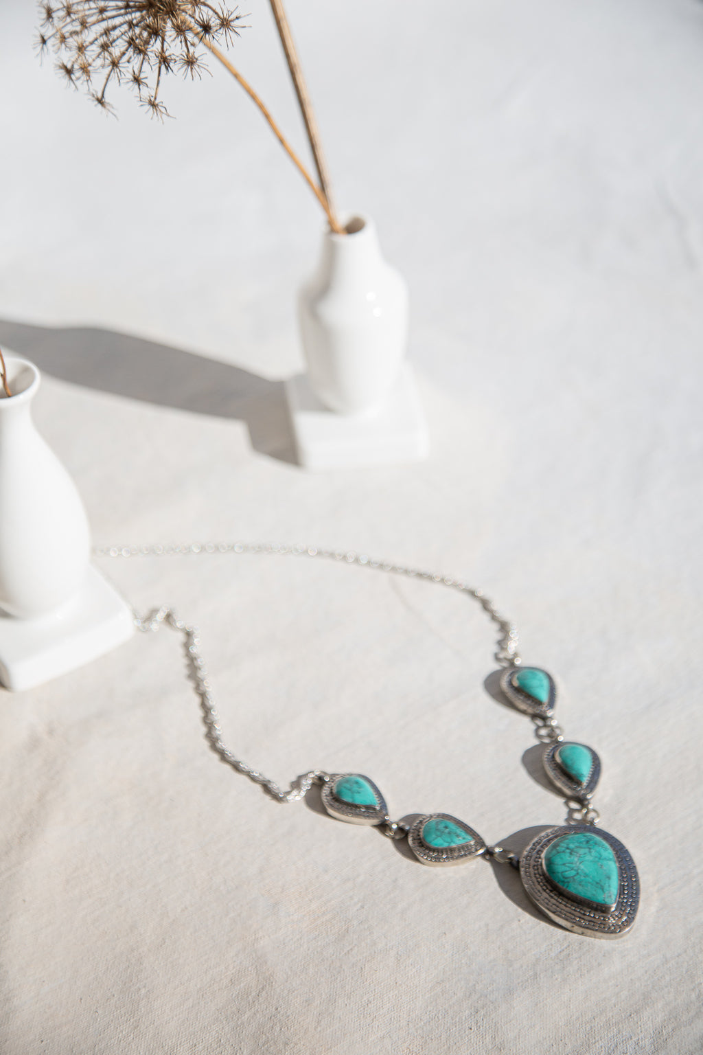 Turquesa - necklace with turquoise stones