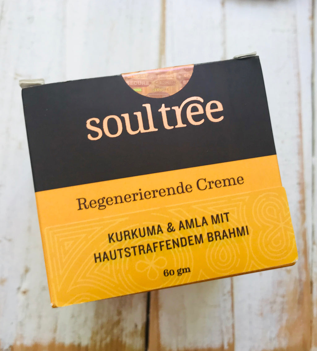Soul Tree Regenerating face cream Kurkuma Amla Brahmi, 60 ml